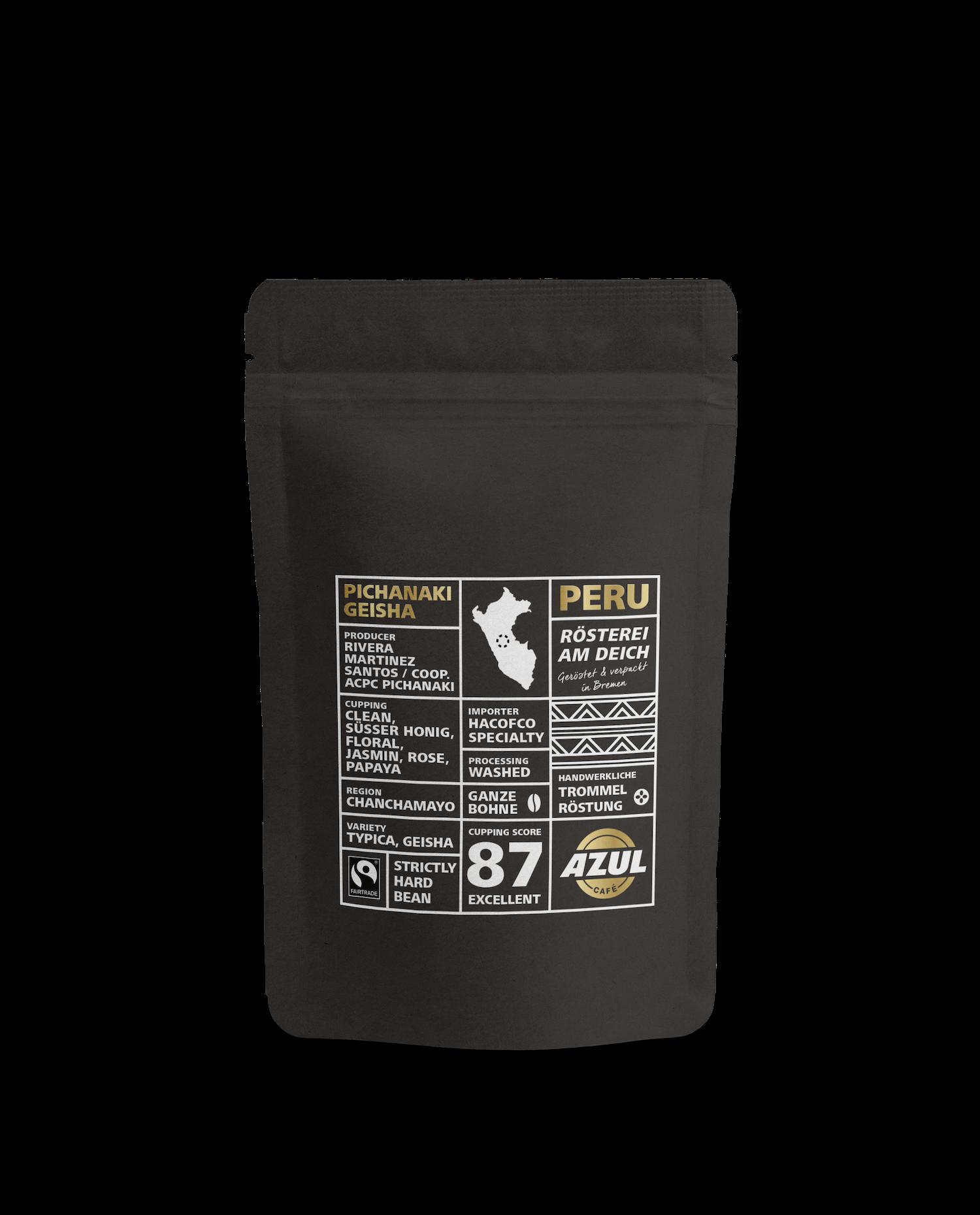 Azul Kaffee – Specialty Coffee Peru Pichanaki Geisha Fairtrade